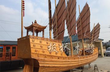 8米景观装饰木船