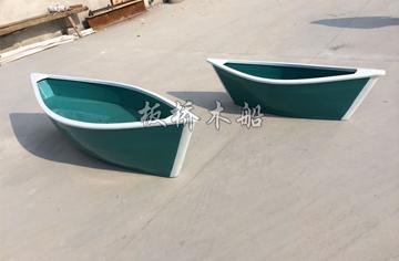 2米欧式尖头木船