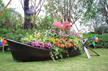 景观装饰木船