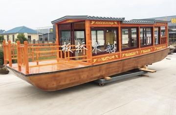 公园单层画舫木船