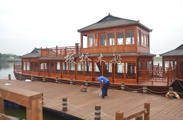 双层画舫木船
